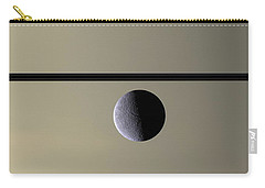 Saturn Rhea Contemporary Abstract Carry-all Pouch by Adam Romanowicz