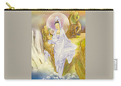 Carry-all Pouch featuring the photograph Sault-witnessing Kuan Yin by Lanjee Chee