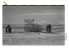 Carry-all Pouch featuring the photograph Savageton Cemetery  Wyoming by Cathy Anderson