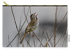 Carry-all Pouch featuring the photograph Savannah Sparrow by Marty Saccone
