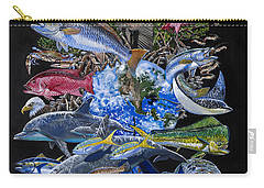 Save Our Seas In008 Carry-all Pouch by Carey Chen