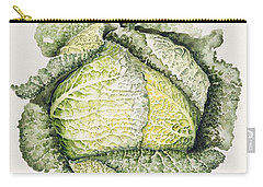 Savoy Cabbage  Carry-all Pouch by Alison Cooper