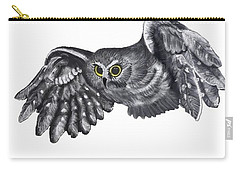Saw-whet Owl Carry-all Pouch by Terry Frederick