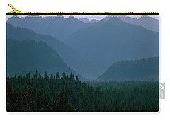 Sawtooth Mountains Silhouette Carry-all Pouch by Ed  Riche