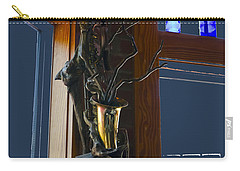 Carry-all Pouch featuring the photograph Sax At The Full Moon Cafe by Greg Reed