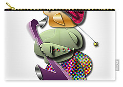 Carry-all Pouch featuring the digital art Sax Man by Marvin Blaine