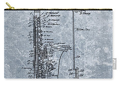 Saxophone Patent Cool Blue Carry-all Pouch by Dan Sproul