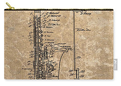 Saxophone Patent Design Illustration Carry-all Pouch by Dan Sproul