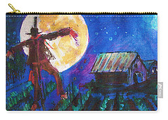Scarecrow Dancing With The Moon Carry-all Pouch by Seth Weaver