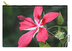 Carry-all Pouch featuring the photograph Scarlet Hibiscus #3 by Paul Rebmann