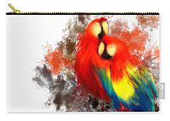 Scarlet Macaw Carry-all Pouch by Lourry Legarde