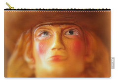 Carry-all Pouch featuring the photograph Scary Cowgirl by Lynn Sprowl