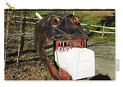 Carry-all Pouch featuring the photograph Scary Mailbox 2 by Sherman Perry