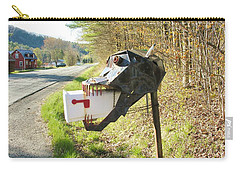 Carry-all Pouch featuring the photograph Scary Mailbox by Sherman Perry