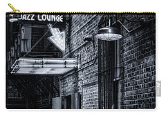 Scat Lounge In Cool Black And White Carry-all Pouch by Joan Carroll