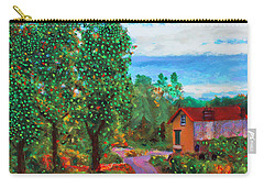 Carry-all Pouch featuring the painting Scene From Giverny by Deborah Boyd
