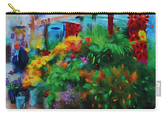 Carry-all Pouch featuring the painting Scene From La Rambla by Deborah Boyd