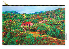 Carry-all Pouch featuring the painting Scene From Mahogony Bay Honduras by Deborah Boyd