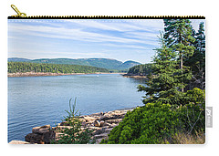 Carry-all Pouch featuring the photograph Scenic Cove At Acadia National Park by John M Bailey