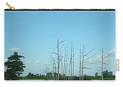 Carry-all Pouch featuring the photograph Scenic Swamp Cypress Trees by Joseph Baril