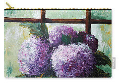 Carry-all Pouch featuring the painting Scent Of Memories by Vesna Martinjak
