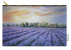 Carry-all Pouch featuring the painting Scented Field by Vesna Martinjak