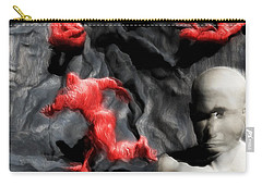 Carry-all Pouch featuring the digital art Schizophrenic Lucidity by John Alexander