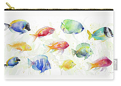 School Of Tropical Fish Carry-all Pouch by Lanie Loreth