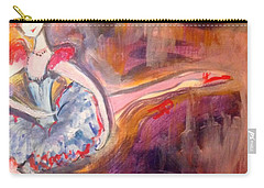 Carry-all Pouch featuring the painting Scintillating Starlet by Judith Desrosiers