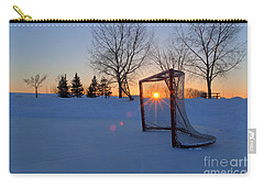 Scoring The Sunset Carry-all Pouch by Darcy Michaelchuk
