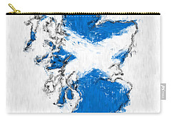 Scotland Painted Flag Map Carry-all Pouch by Antony McAulay