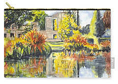 Carry-all Pouch featuring the painting Scotney Castle Ruins Kent England by Carol Wisniewski