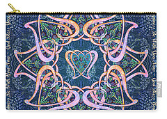 Scottish Blessing Celtic Hearts Duvet Carry-all Pouch