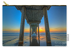 Scripps Pier Sunset Carry-all Pouch by Michael Ver Sprill