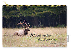 Scripture Photo With Elk Sitting Carry-all Pouch