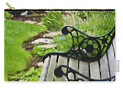 Scroll Bench Garden Scene Digital Artwork Carry-all Pouch