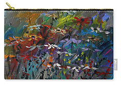Carry-all Pouch featuring the painting Sea Garden by John Williams