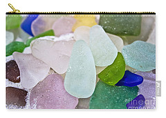 Sea Glass Carry-all Pouch by Colleen Kammerer