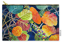 Carry-all Pouch featuring the painting Sea Grapes II by Roger Rockefeller