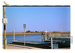 Carry-all Pouch featuring the photograph Sea Gulls Watching Over The Wetlands by Amazing Photographs AKA Christian Wilson
