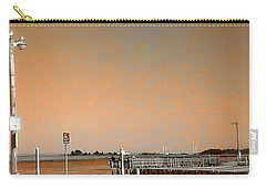 Carry-all Pouch featuring the photograph Sea Gulls Watching Over The Wetlands In Orange by Amazing Photographs AKA Christian Wilson