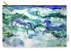 Sea Horses Carry-all Pouch by Joan Hartenstein