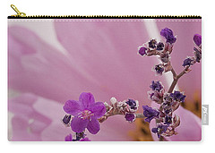 Carry-all Pouch featuring the photograph Sea Lavender Macro  by Sandra Foster