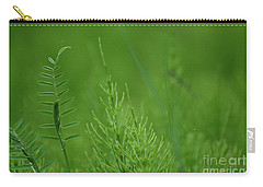 Carry-all Pouch featuring the photograph Sea Of Green by Bianca Nadeau
