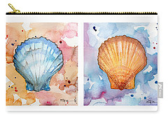 Sea Shells In Contrast Carry-all Pouch