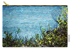 Carry-all Pouch featuring the digital art Sea Shore 1 by David Lane