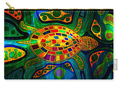 Sea Turtle - Abstract Ocean - Native Art Carry-all Pouch