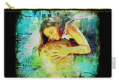 Carry-all Pouch featuring the digital art Sea Turtle Love by Absinthe Art By Michelle LeAnn Scott
