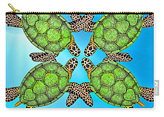 Sea Turtles Carry-all Pouch by Betsy Knapp