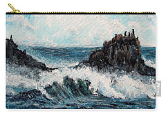 Carry-all Pouch featuring the painting Sea Whisper by Shana Rowe Jackson